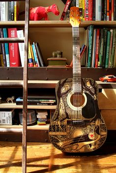 The Sharpie Guitar for The Raven Boys by Telltale Crumbs, via Flickr