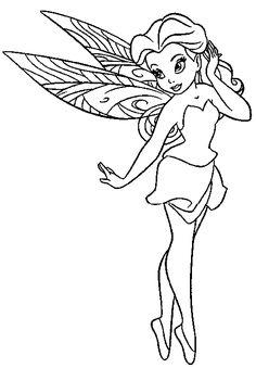 Disney Fairies Coloring Pages Vidia
