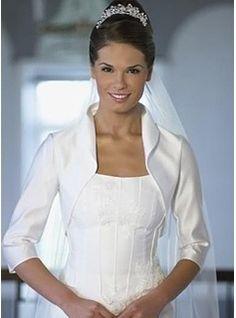 Boléros 3/4-length manches en satin de circonstance veste / mariage wrap (013003913)