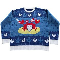 Mistah Sandy Claws Ugly Christmas Sweater- with Pot Leaf motif FunQi