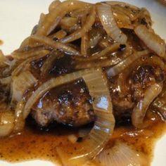 Home Style Salisbury Steak w/ Onion Gravy Recipe | Just A Pinch Recipes