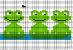 Tricksy Knitter Charts: frogs 2