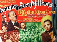 Music for Millions,1945.  Absolutely one of the most surprisingly greatest movies I've ever seen.