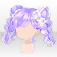 Pop Easter Party Braided Bunches ver.A purple Yellow Balloons, Red Balloon, Chibi Hair, Yellow Animals, Kawaii Hairstyles, Cocoppa Play, Hair Reference, Balloon Animals, Anime Hair