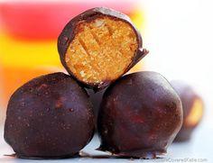 Pumpkin Fudge Balls #TheChocolateCoveredDiet