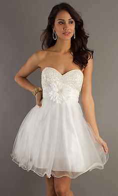 Short strapless babydoll dress by Dave & Johnny