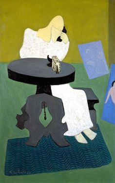 "Milton Avery ""Reclining Reader"", 1950 (USA, Expressionism, 20th cent.)"