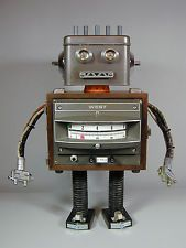 """ROBO WEST"" Found Object Robot  Sculpture Assemblage  Sally Colby"