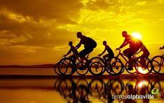 Você sabia que andar de bike por 1h queima  500 calorias ou até um pouco mais? Por que não aproveitar o dia para fazer um exercício?