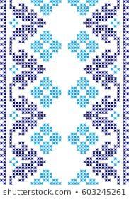 Lililia's Portfolio on Shutterstock Cross Stitch Embroidery, Embroidery Patterns, Cross Stitch Patterns, Broderie Bargello, Crochet Circles, Simple Cross Stitch, Red Pattern, Needlepoint, Knitting