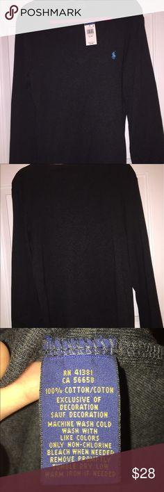 Ralph Lauren Grey Long-sleeve V Neck Grey Long-sleeve V Neck, 100% Cotton Polo by Ralph Lauren Sweaters V-Necks