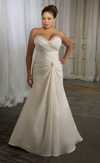 sweetheart cut, with ringstones(bling) wedding dress
