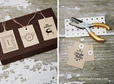 Printable Christmas Gift Tags with LiveLaughRowe.com #printable #gifttags