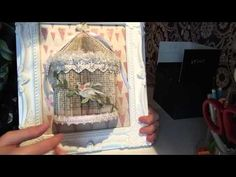 Book folding bird cage // SOLD - YouTube