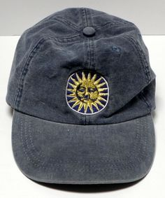 08a9008eb0574 BAJA ROSA Hat Cap Sun Logo Strapback Adjustable 100% Cotton Blue  OceanCaps   BaseballCap