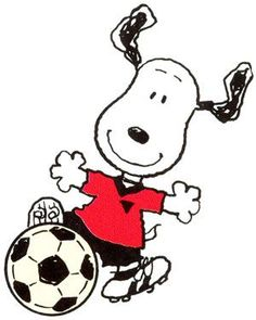 One the few sports I enjoyed as a child, and Snoopy with a soccer ball. What could be cuter! (Other than Snoopy playing hockey on Woodstock's bird bath, that is. Snoopy Love, Charlie Brown Und Snoopy, Snoopy And Woodstock, Graffiti Alphabet, Peanuts Cartoon, Peanuts Snoopy, Peanuts Characters, Cartoon Characters, Caricatures