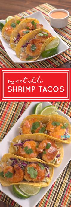 Want to take your tacos to the next level? So instead of the same-old, same-old, try filling those tortillas with a twist: Sweet Chili Shrimp! Gf Recipes, Fish Recipes, Seafood Recipes, Mexican Food Recipes, Cooking Recipes, Cooking Ideas, Food Ideas, Recipies, Chili Shrimp