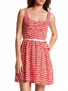 Picnic Pretty  Just one look at this cutie-pie dress and we want to bake a pie, bring it to a picnic and Pin photos of the entire affair!     Get it now: 'Cherry Pie' dress, $32.99 at charlotterusse.com