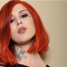 Kat Von D red short hair!