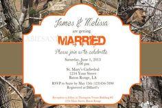 Realtree Camo Wedding Invitation / Bridal Invitation / Camo Invitation / Wedding Invitation Digital File 4x6 and Matching Thank You Card Camo Wedding