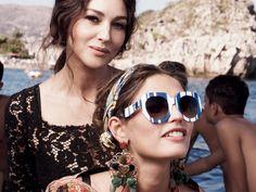 Occhiali da Sole Donna Dolce & Gabbana: Scopri la Campagna Pubblicitaria per la Collezione Primavera Estate 2013 con Monica Bellucci e Bianca Balti.