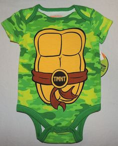 Nickelodeon TMNT Infant Boys 5 Pack Bodysuits /& Coveralls Size 0//3M 3//6M