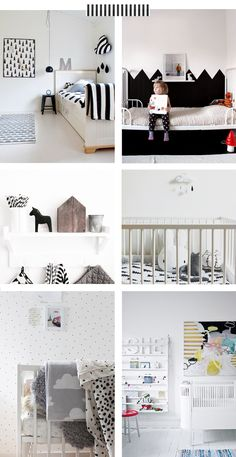 Kids rooms. Graphic black and white colour schemes. Blog — The Marion House Book