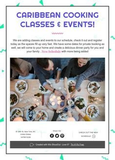 Cooking Classes, Caribbean, Dinner, Party, Dining, Food Dinners, Parties, Dinners