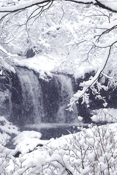 waterfall in the snow gif