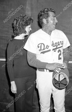 Dean Martin in Los Angeles Dodgers uniform w some babe  dp-17804