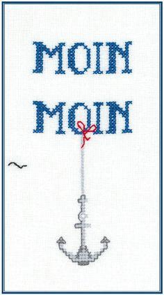 Moin Moin - Kreuzstich - Stickvorlage zum Sticken