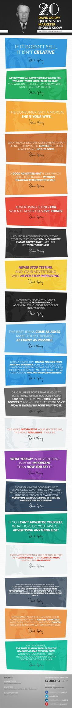 20 David Ogilvy Quotes Every Marketer Should Know #infographic
