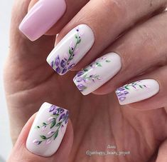 130 cute spring nail art designs to dress up your next mania . - 130 cute spring nail art designs to refresh your next mania page 13 Cute Spring Nails, Spring Nail Art, Summer Nails, Cute Nails, Pretty Nails, Cute Nail Art Designs, Nail Designs Spring, Nail Art Flowers Designs, Flower Design Nails