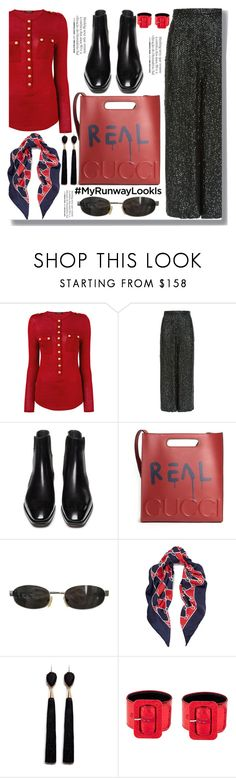 """""""My Runaway Look"""" by drigomes ❤ liked on Polyvore featuring Balmain, Temperley London, Gucci, Tom Ford, Franke, Mignonne Gavigan and Attico"""