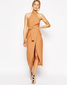 Image 1 - C/meo Collective - Stand Still - Robe mi-longue - Fauve