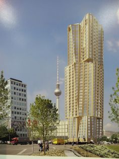 Hines Hochhaus, Berlin-Germany, 150 m, proposed 2014, Gehry Partners