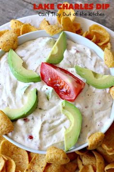 Lake Charles Dip is a delicious cajun appetizer that includes avocados, tomatoes, hot sauce & Good Seasons Italian seasoning mix. Perfect for tailgating.