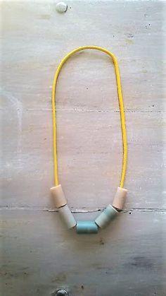 RIGA I / clay necklace / clay beads necklace / clay tubes necklace / polymer clay necklace