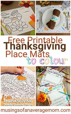 Musings of an Average Mom: Thanksgiving Place Mats Thanksgiving Jokes, Thanksgiving Placemats, Free Thanksgiving Printables, Friends Thanksgiving, Thanksgiving Activities For Kids, Thanksgiving Blessings, Printable Activities For Kids, Thanksgiving Decorations, Free Printables