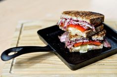 Lunch Sandwich - Lamb proscuitto, brie and blacl currant jam by ashafsk, via Flickr