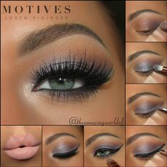Dazed Apply Motives Eye Base to the entire lid Apply Motives Pressed Eye Shadow in Caramel for transition Apply Motives Pressed Eye Shadow in Bitter Chocolate on the outer v Apply Motives Pressed Eye Shadow in Star Struck Apply Motives Eye Candy Crème Eye Shadow in Gum Drop on the lid Apply Motives Mineral Gel Eyeliner in Little Black Dress to the top lash line Finish your look with Motive Ultra Matte Lipstick in Tender