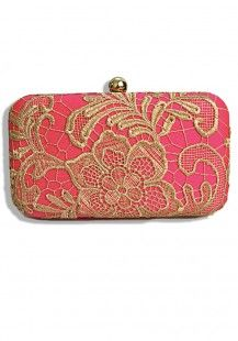 Treasure Pink Hand Clutch