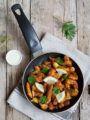 Straccetti di pollo croccante con curry rosso