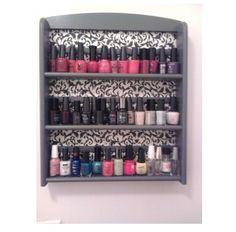 Diy Nail Rack. Need something like this :)