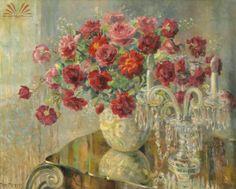 Vaso de flores e candelabro - Georgina de Albuquerque