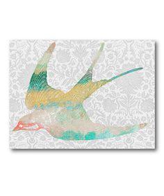 Loving this Pastel Bird II Wrapped Canvas on #zulily, $35 !!  #zulilyfinds