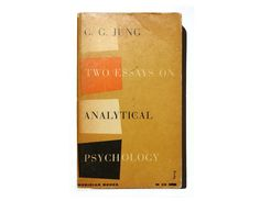 """Alvin Lustig book cover design, 1956. """"Two Essays on Analytical Psychology"""" by C. G. Jung. by NewDocuments on Etsy"""