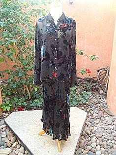 Spenser Jeremy Vintage Asymmetrical Skirt & Blouse Matching
