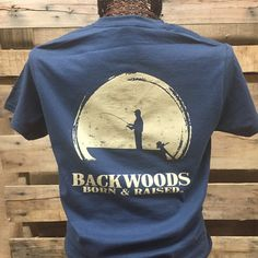 7fb559b3 Backwoods Born & Raised Fishing Boat Country Bright Unisex T Shirt