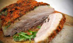 Cesnakovo - paprikový varený bôčik